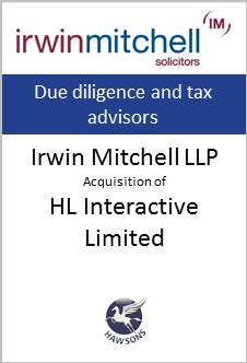Deal Hawsons advises Irwin Mitchell in acquisition of HL Interactive Limited