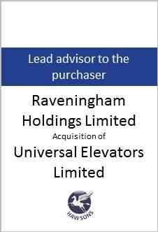 Deal: Raveningham Holdings Limited acquires Universal Elevators Limited - Hawsons advises