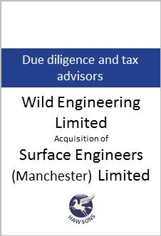 Deal Hawsons advises Wild Engineering Limited in acquisition of Surface Engineers (Manchester) Limited
