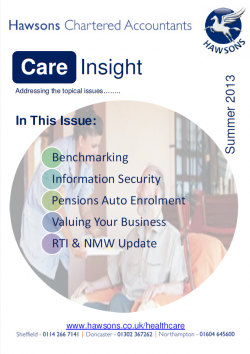 Care home Summer 2013 sector newsletter