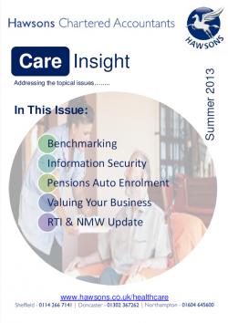 Care home Summer 2013 sector newsletter