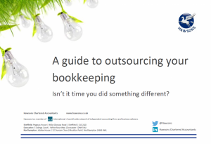 A guide to outsourcing your bookkkeeping