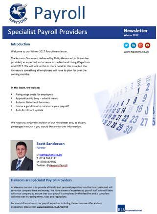 Payroll Newsletter 2017