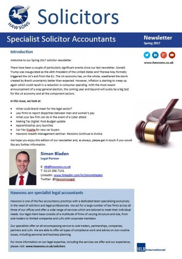 Solicitors newsletters winter 2017