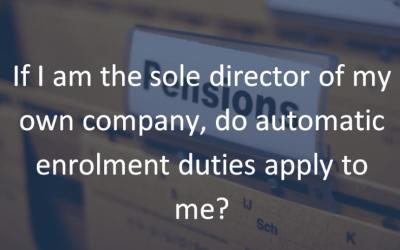 Clarification on automatic enrolment and directors