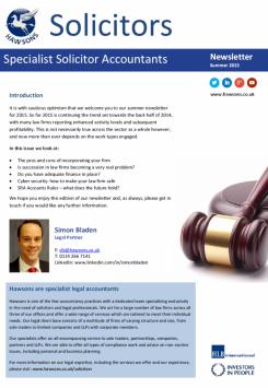 Solicitor Summer 2015 sector newsletter