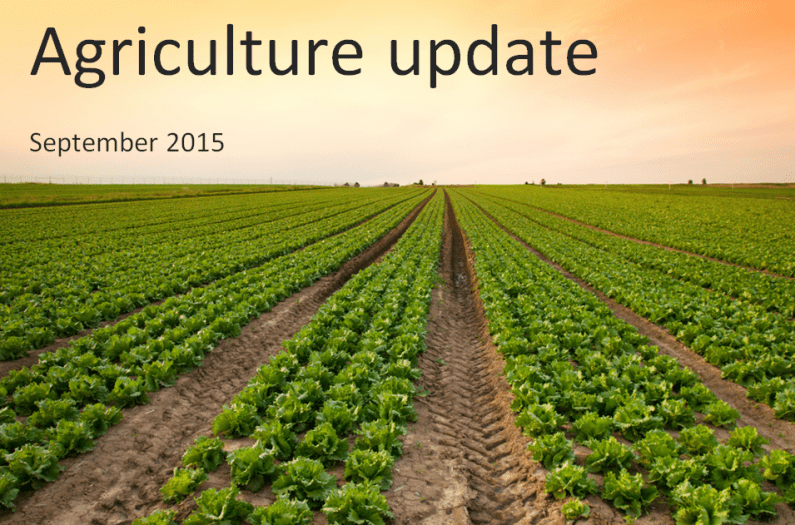 Agriculture update for UK farmers – September 2015