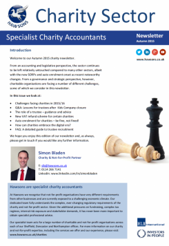 Charity Autumn 2015 sector newsletter