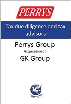 Deal Hawsons advises Perrys on acquisition of GK Group