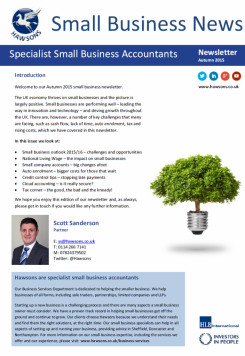 SME Autumn 2015 sector newsletter