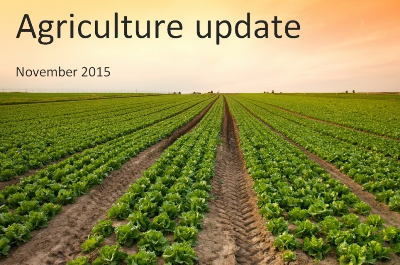 Agriculture update for UK farmers – November 2015