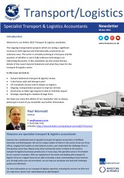 Transport & Logistics Winter 2015 sector newsletter