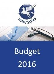 Budget 2016 Summary
