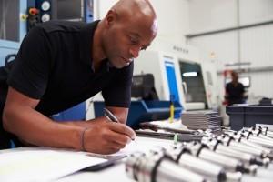 Man in manufacturing working