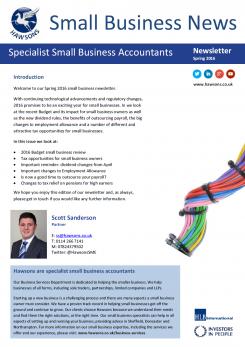 SME Spring 2016 sector newsletter
