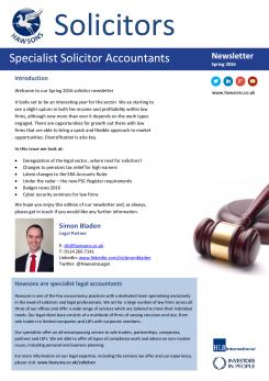 Solicitor Spring 2016 sector newsletter