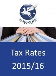 Tax rates 2015/16