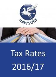 Tax rates 2016/17