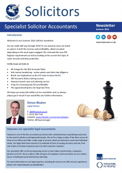 Solicitor Summer 2016 sector newsletter