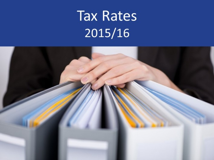 Tax Rates and allowances 2015/16 – summary and details