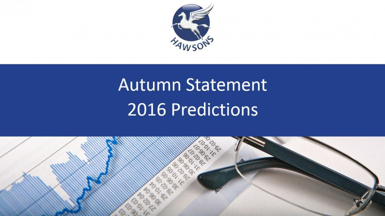 The Autumn Statement 2016 predictions